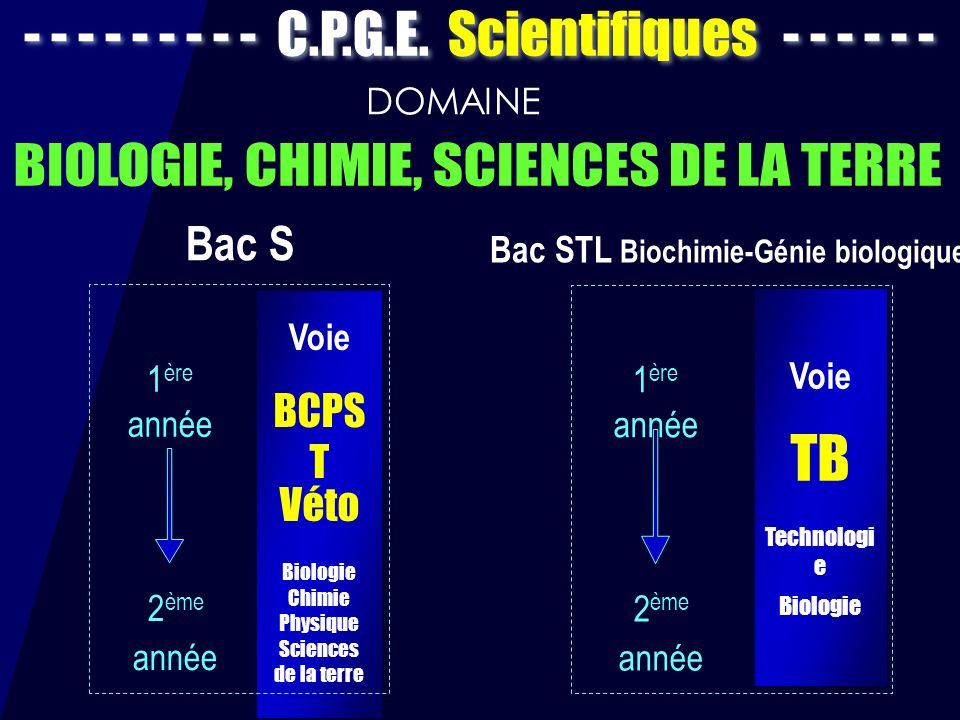 Bac STL Biochimie-Génie biologique