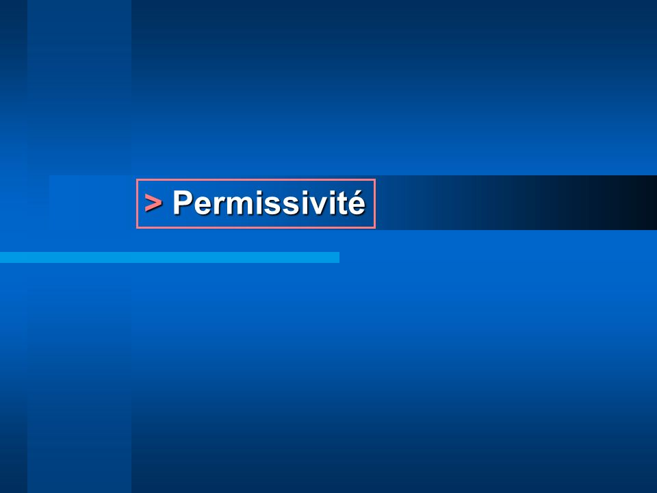 > Permissivité