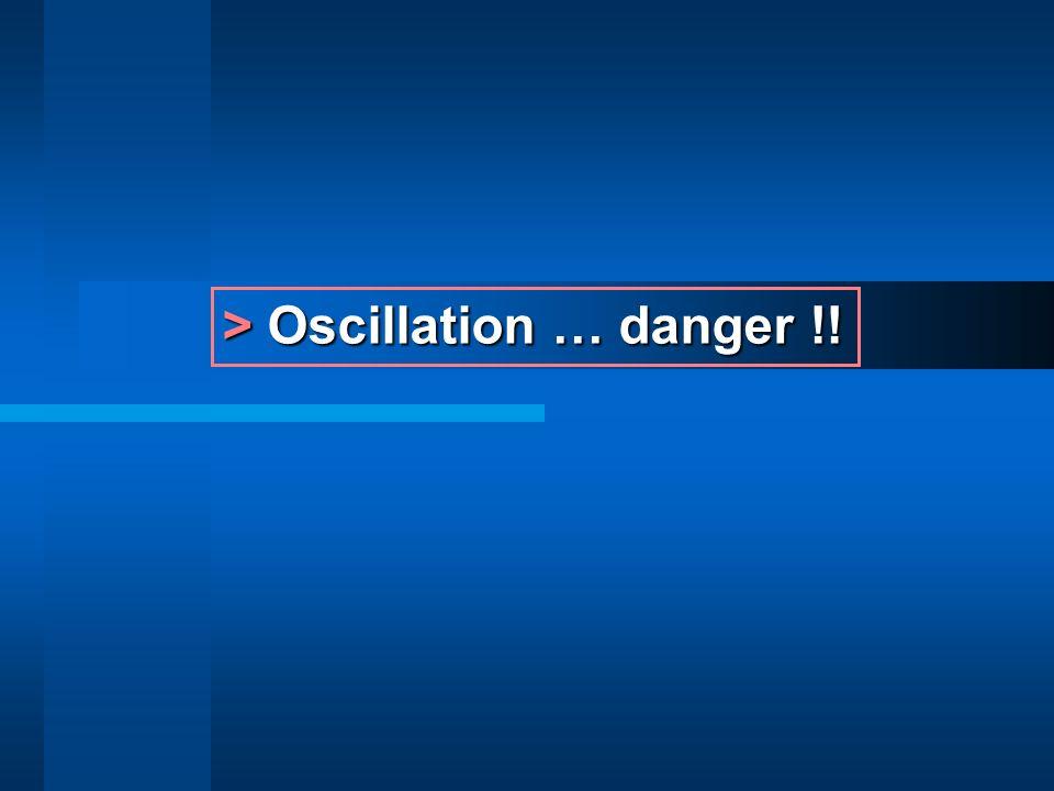 > Oscillation … danger !!