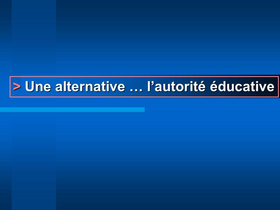 > Une alternative … l'autorité éducative