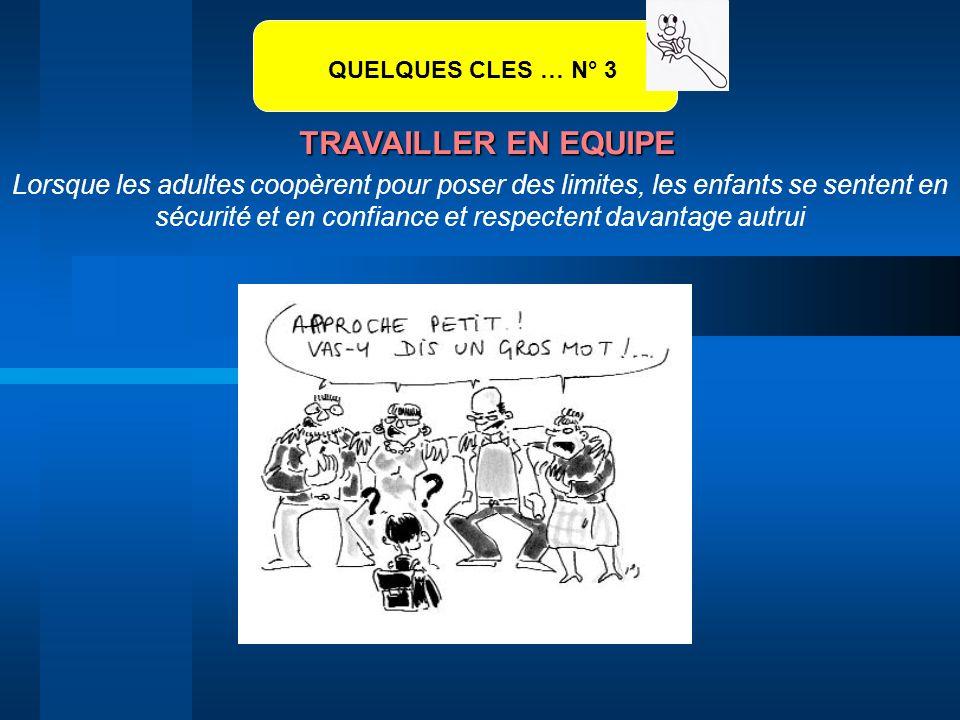 QUELQUES CLES … N° 3 TRAVAILLER EN EQUIPE.