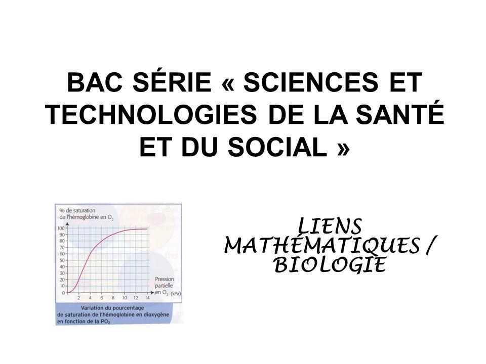 BAC SÉRIE « SCIENCES ET TECHNOLOGIES DE LA SANTÉ ET DU SOCIAL »