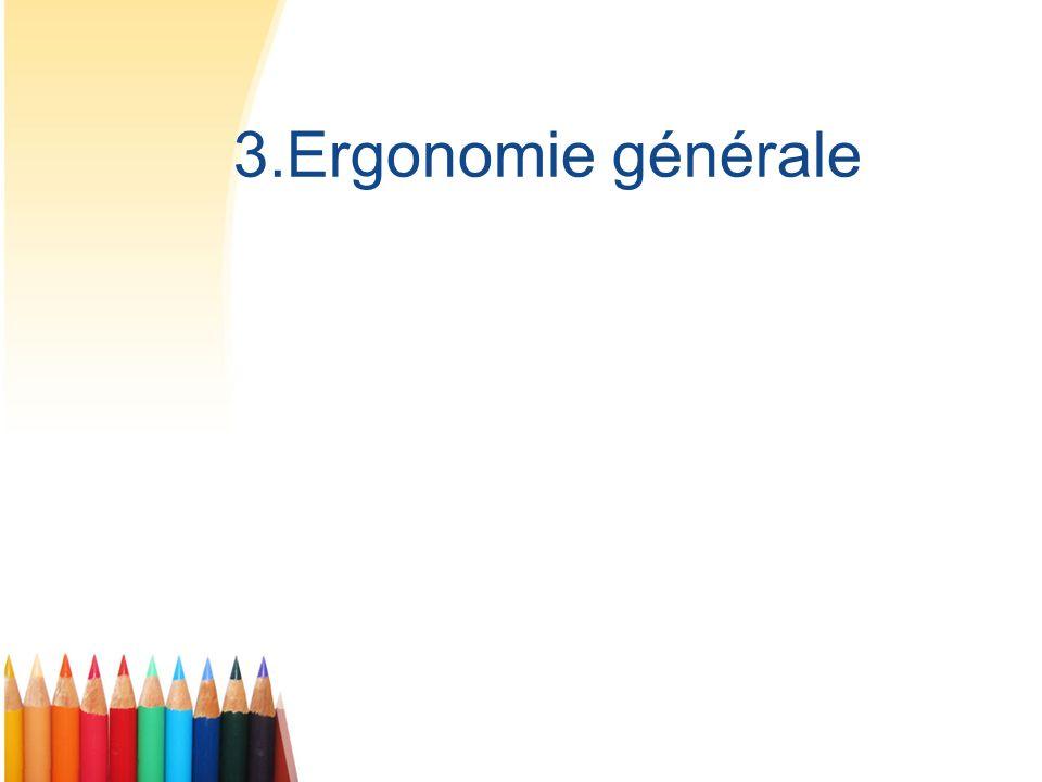 3.Ergonomie générale