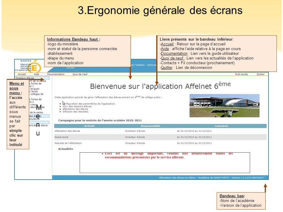 3.Ergonomie générale des écrans