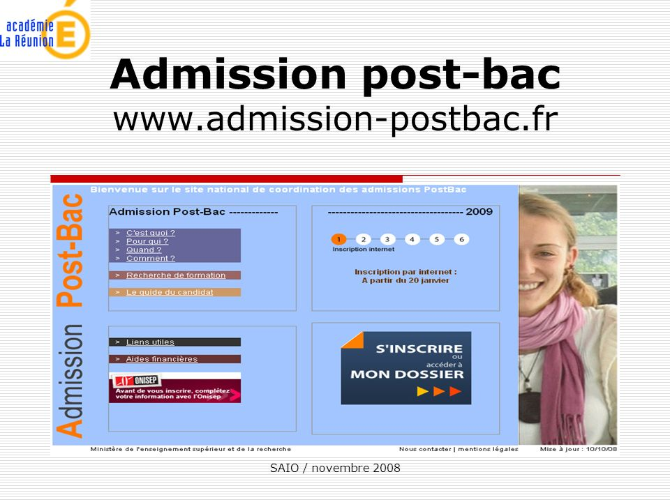 Admission post-bac