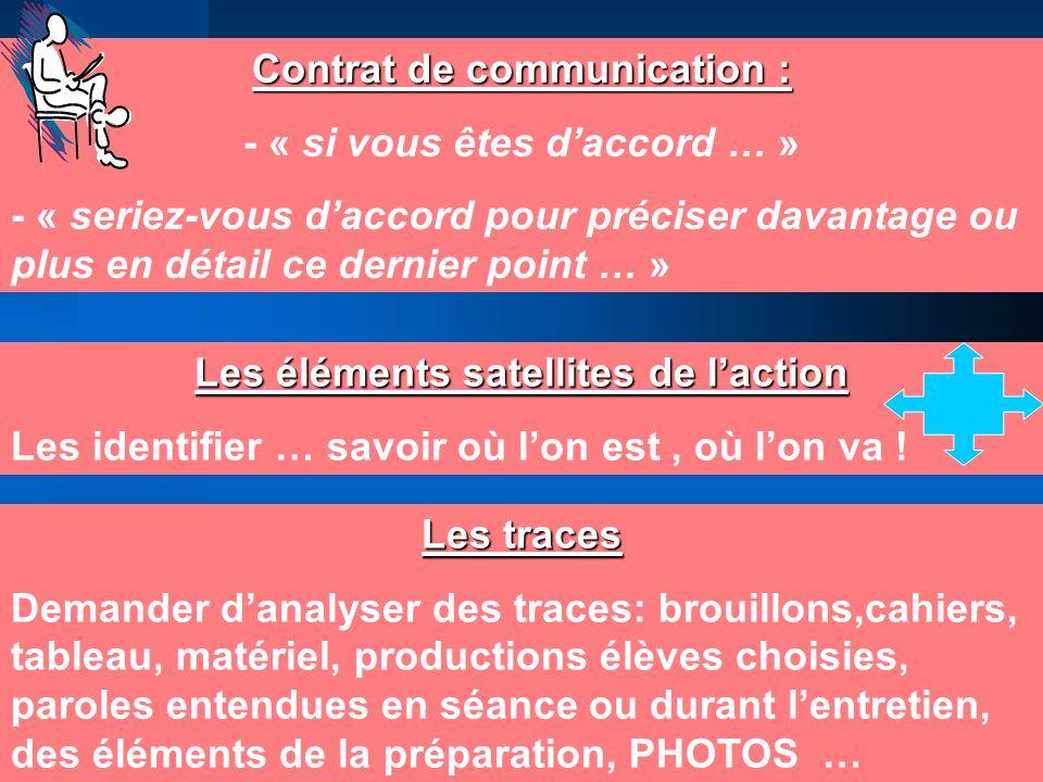 Contrat de communication : - « si vous êtes d'accord … »