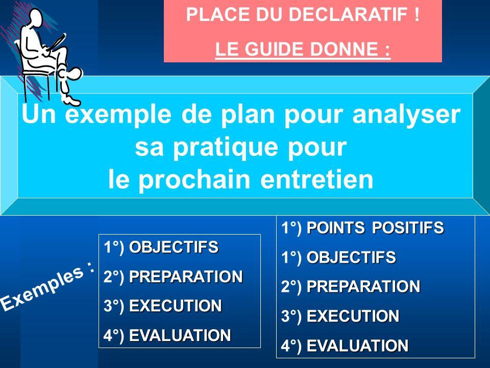 Un exemple de plan pour analyser