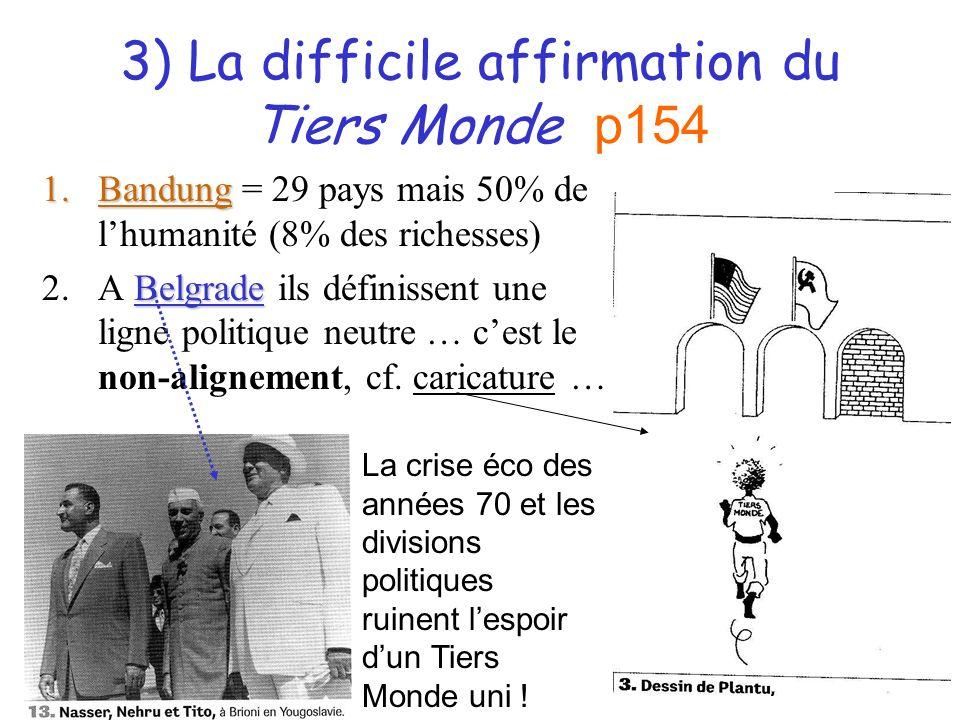 3) La difficile affirmation du Tiers Monde p154
