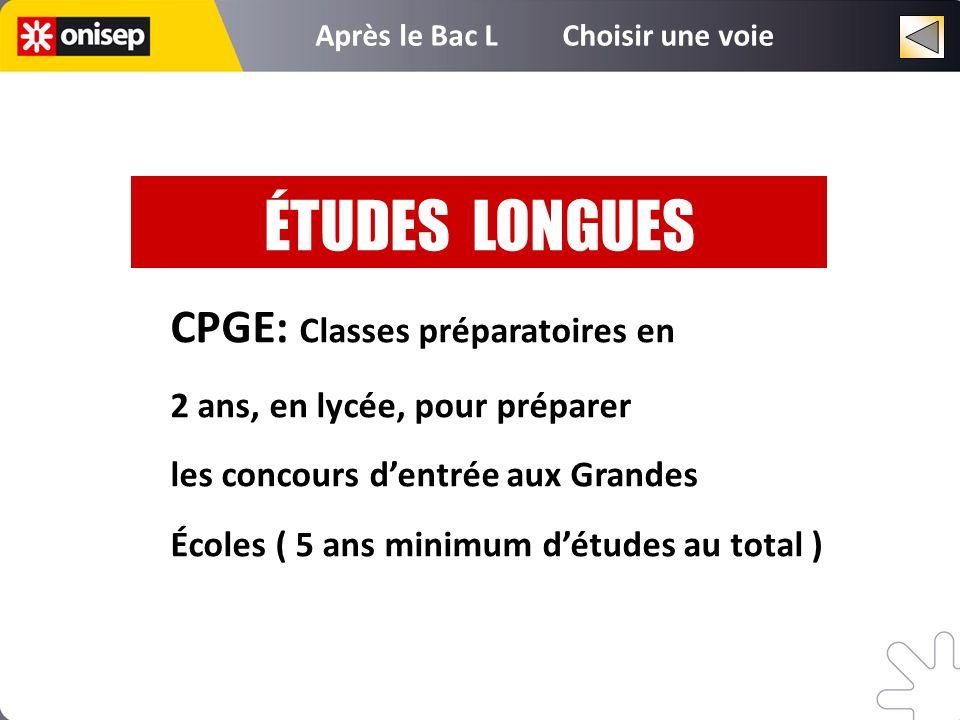 ÉTUDES LONGUES CPGE: Classes préparatoires en