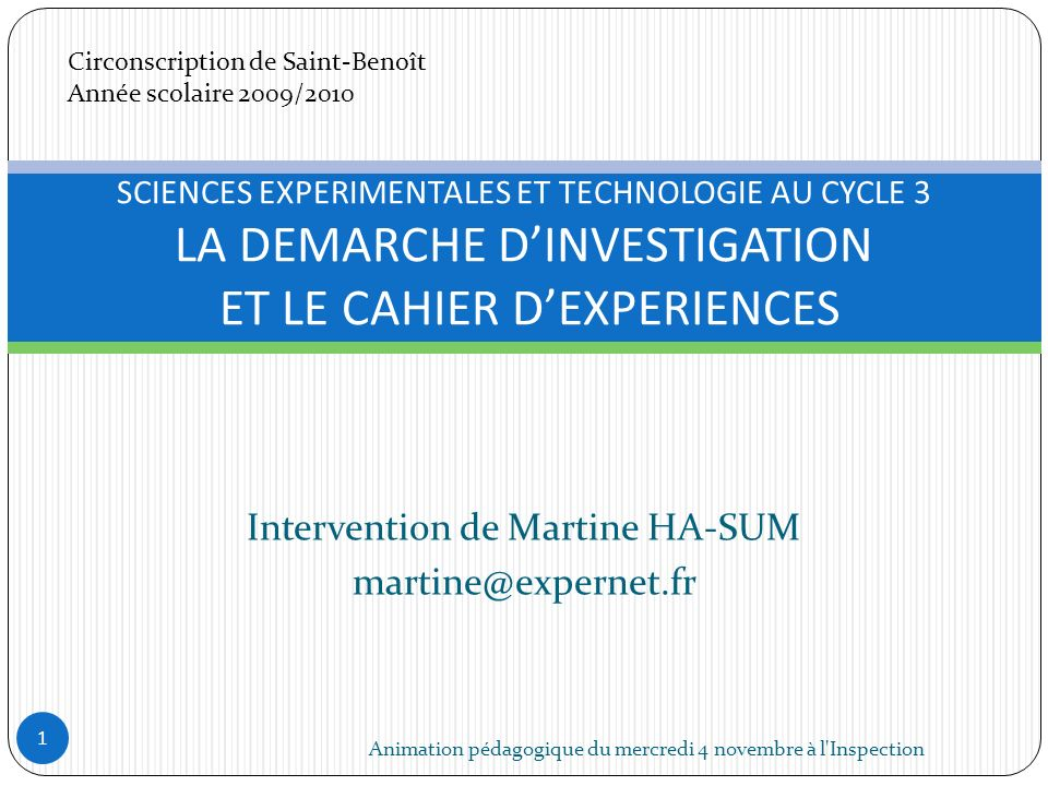 Intervention de Martine HA-SUM martine@expernet.fr