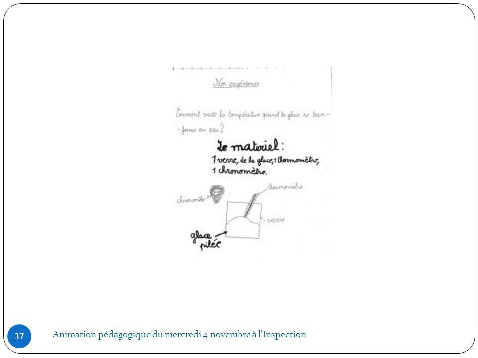 Animation pédagogique du mercredi 4 novembre à l Inspection
