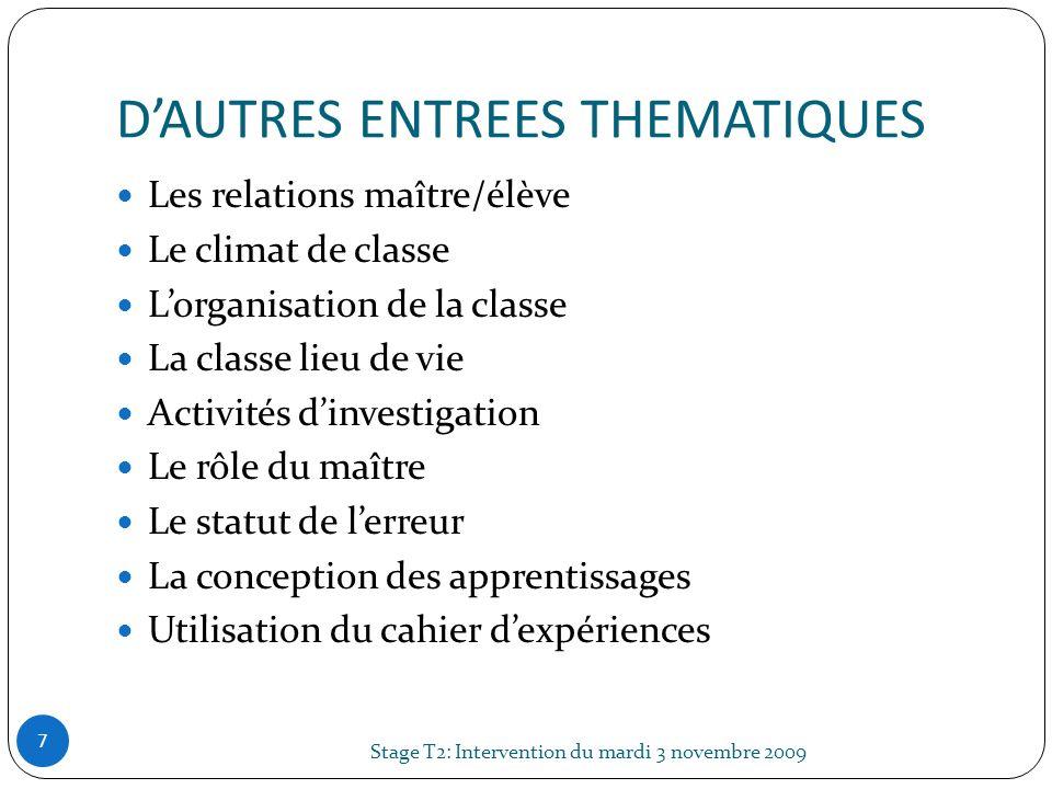 D'AUTRES ENTREES THEMATIQUES