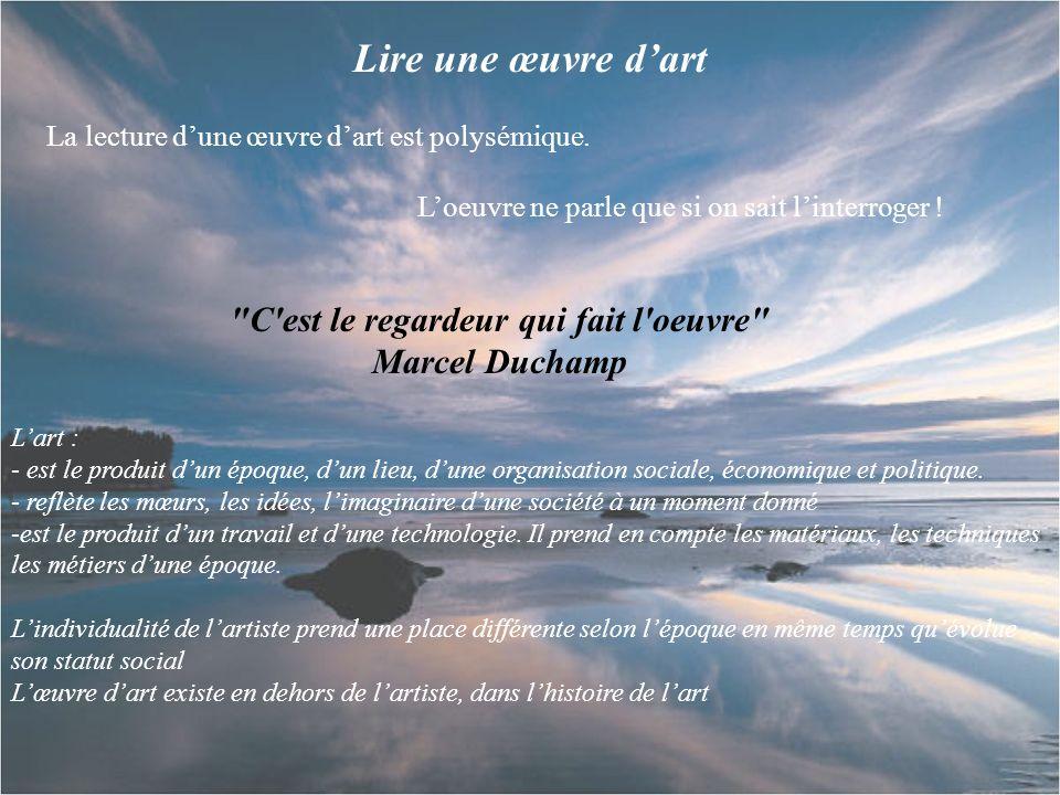 C est le regardeur qui fait l oeuvre Marcel Duchamp