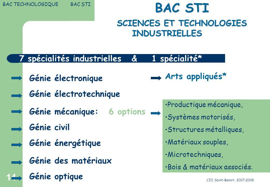 SCIENCES ET TECHNOLOGIES INDUSTRIELLES