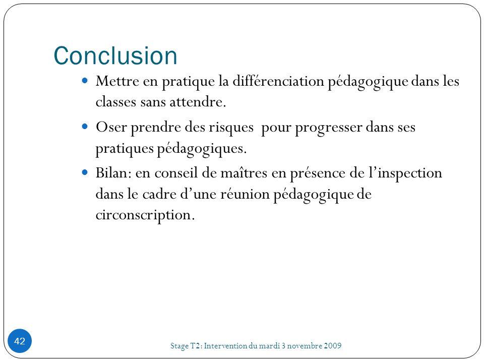 ConclusionMettre en pratique la différenciation pédagogique dans les classes sans attendre.
