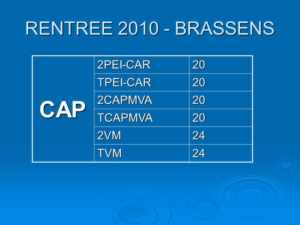 CAP RENTREE 2010 - BRASSENS 2PEI-CAR 20 TPEI-CAR 2CAPMVA TCAPMVA 2VM