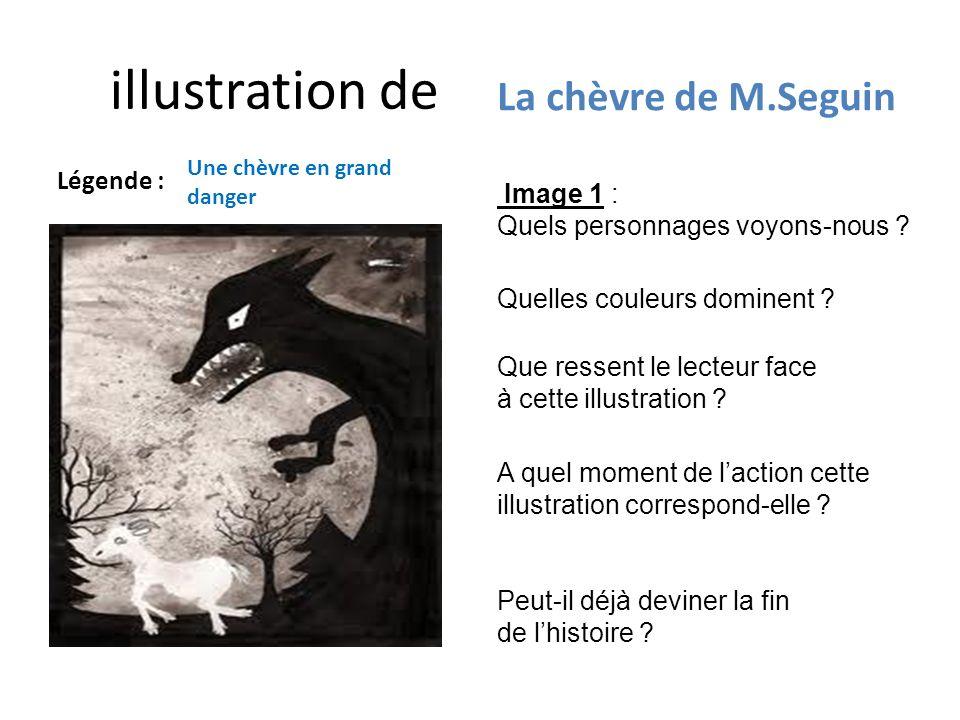 illustration de La chèvre de M.Seguin Légende : Image 1 :