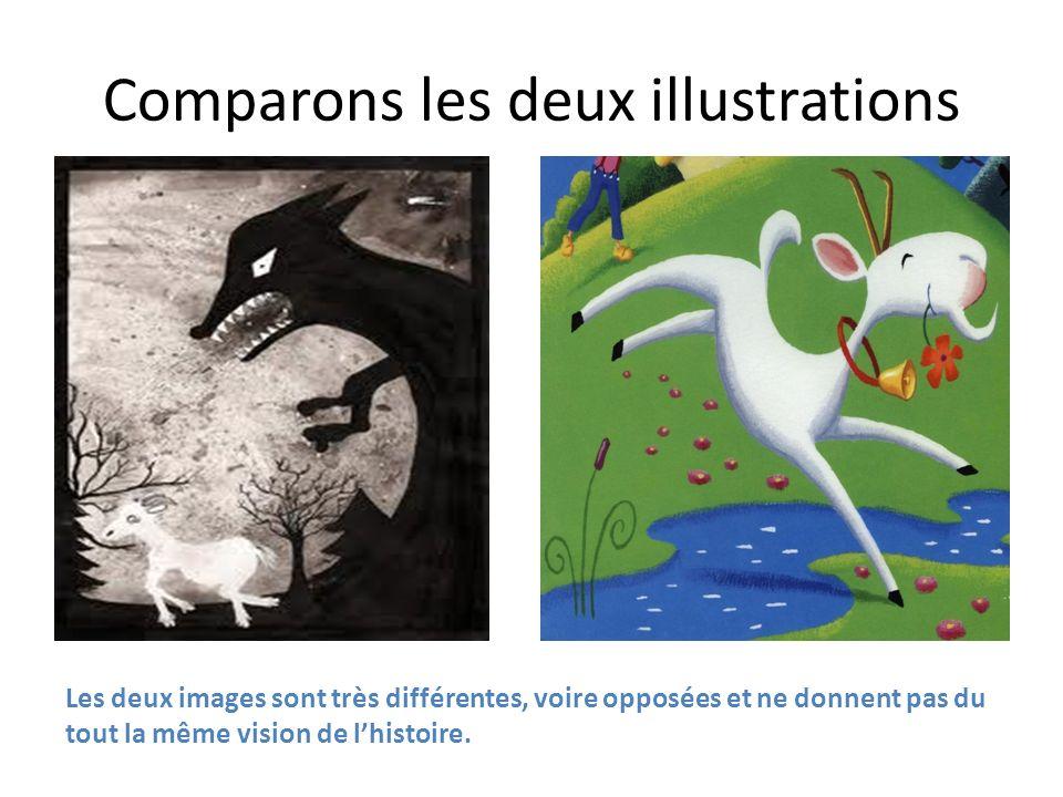 Comparons les deux illustrations