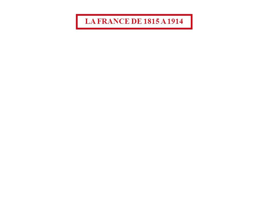 LA FRANCE DE 1815 A 1914