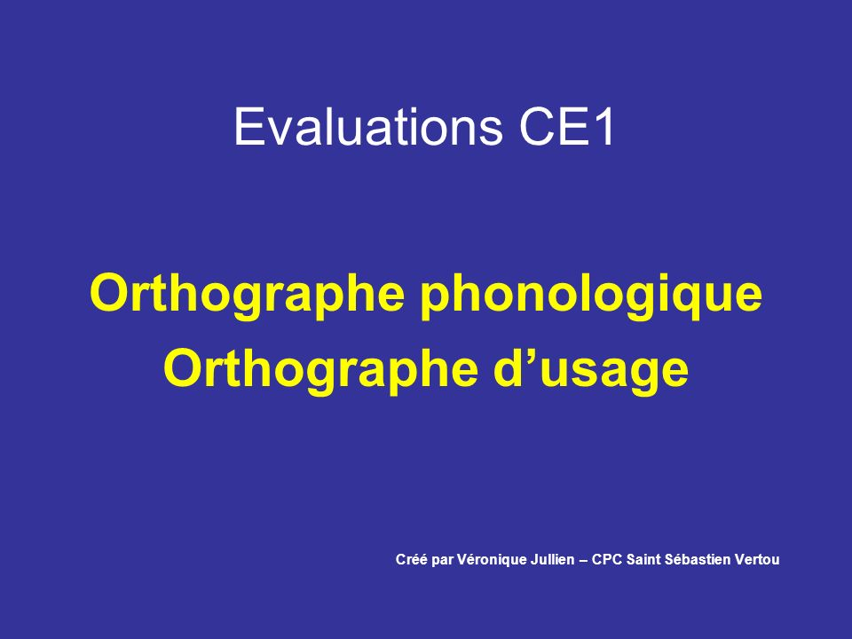Orthographe phonologique