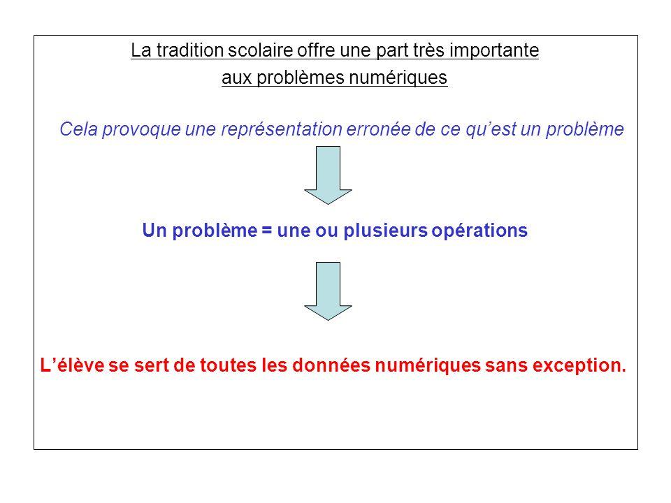 Un problème = une ou plusieurs opérations
