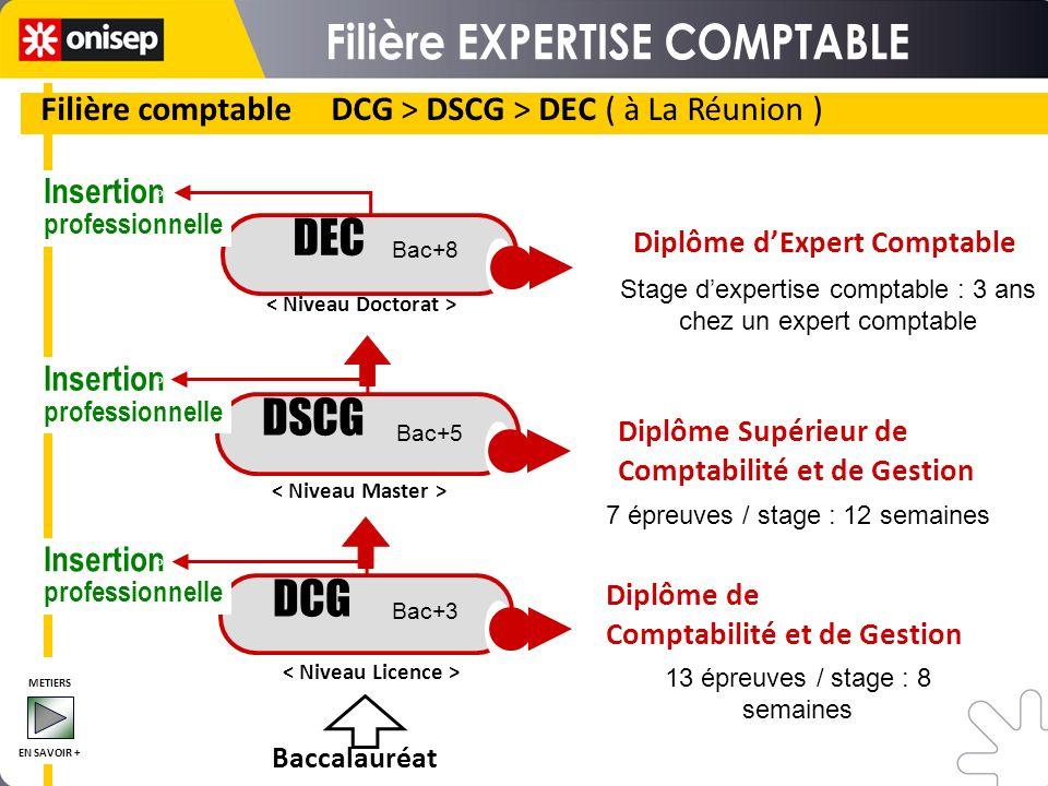 Filière comptable DCG > DSCG > DEC ( à La Réunion )