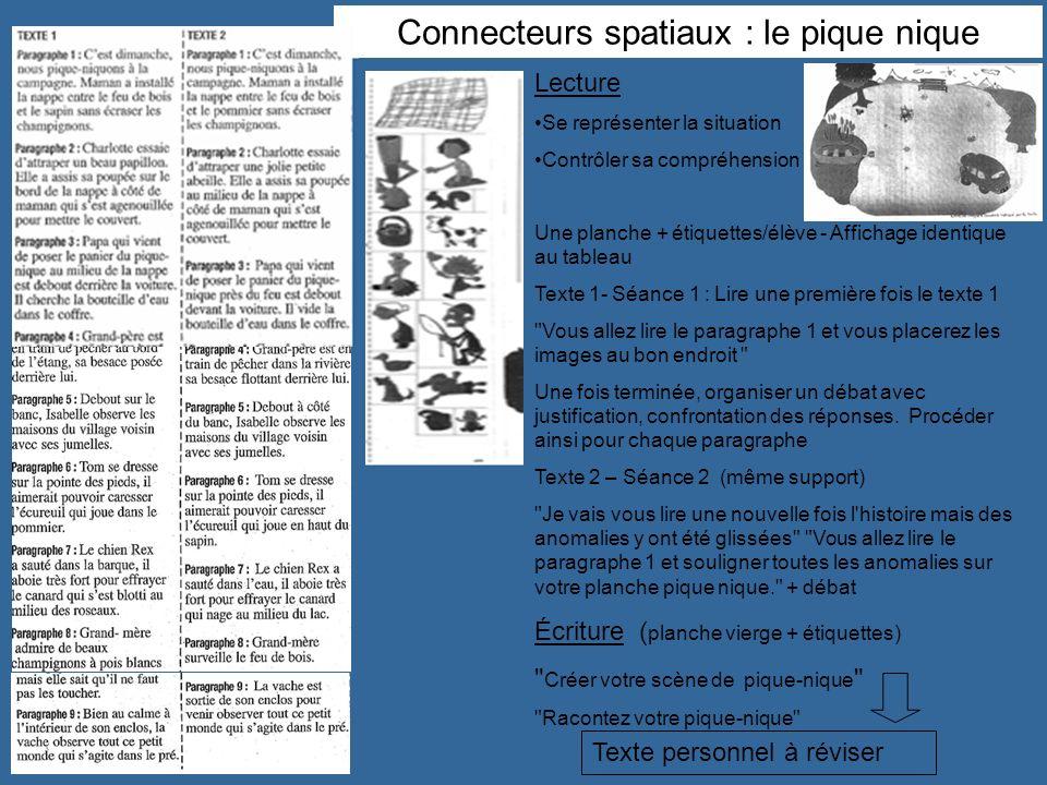 Connecteurs spatiaux : le pique nique