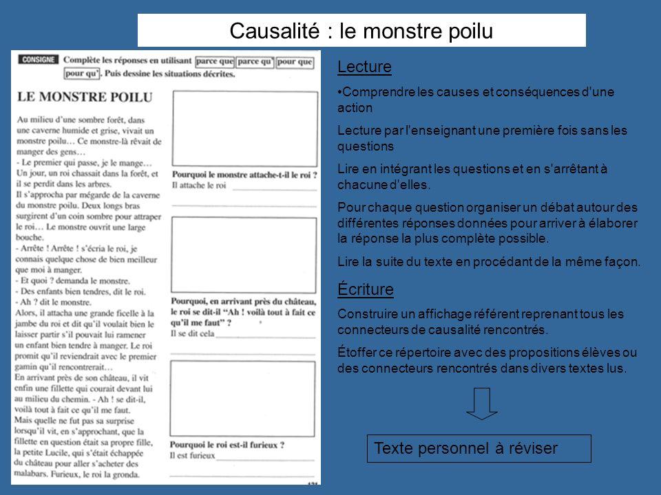 Causalité : le monstre poilu