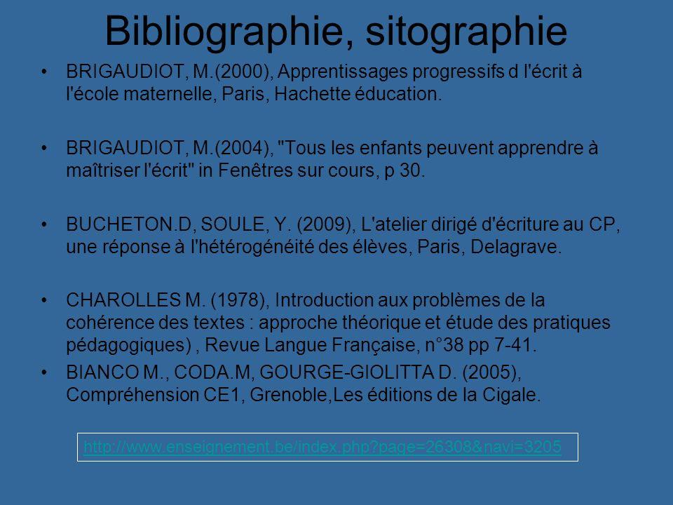Bibliographie, sitographie