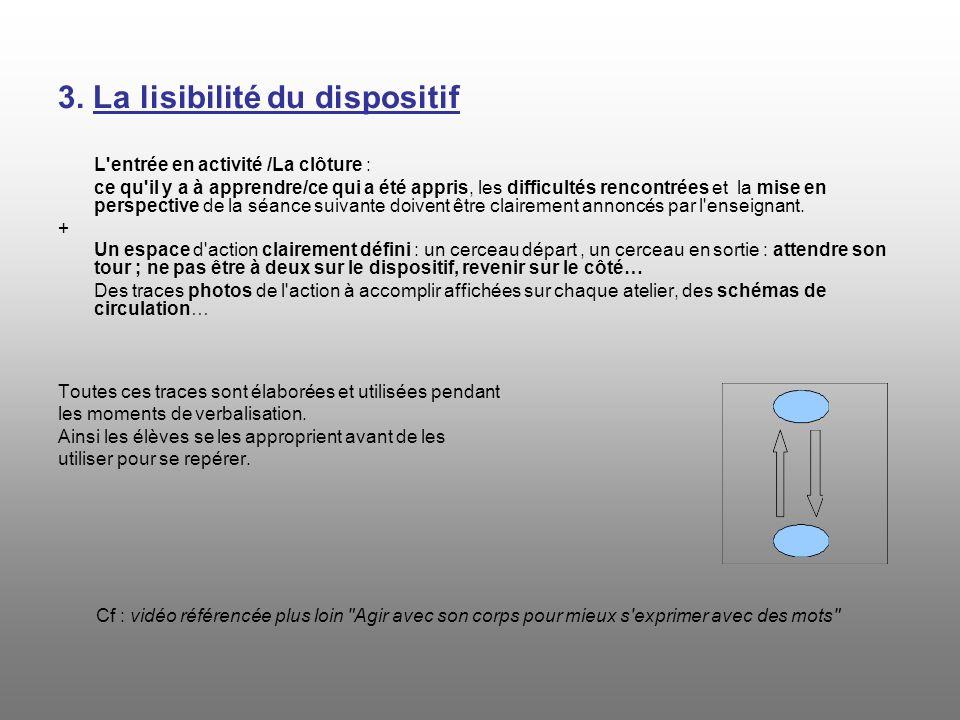 3. La lisibilité du dispositif