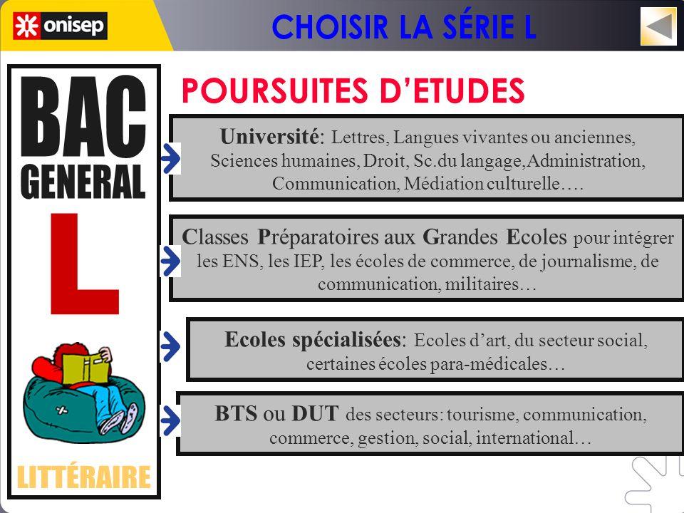 Université: Lettres, Langues vivantes ou anciennes,