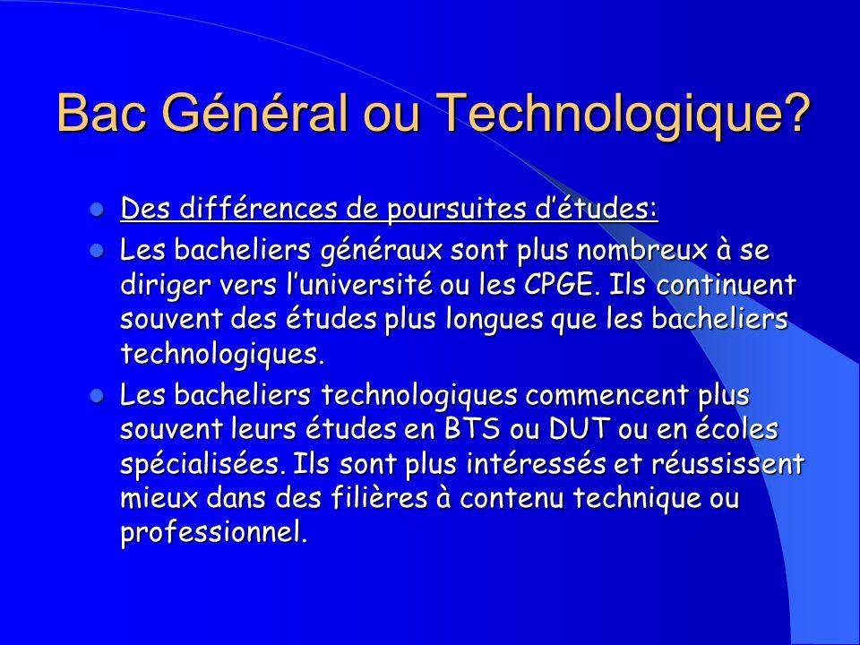 Bac Général ou Technologique
