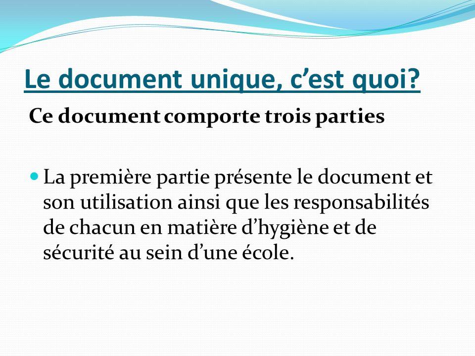 Le document unique, c'est quoi