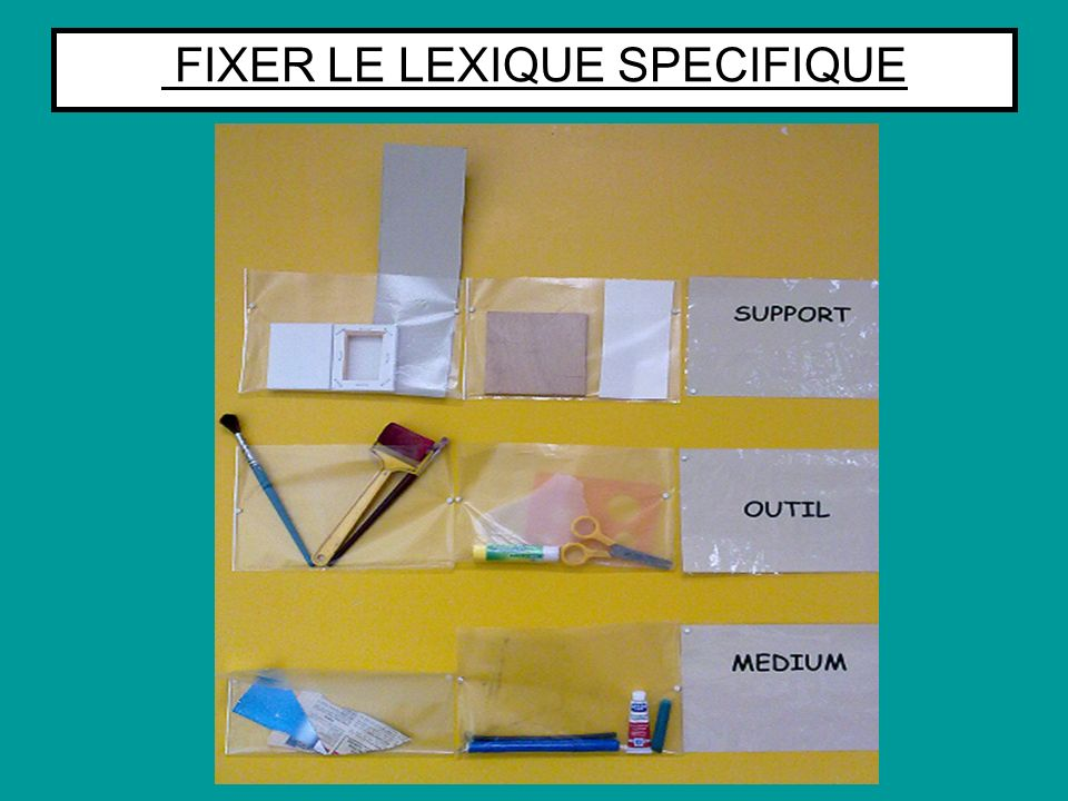 FIXER LE LEXIQUE SPECIFIQUE