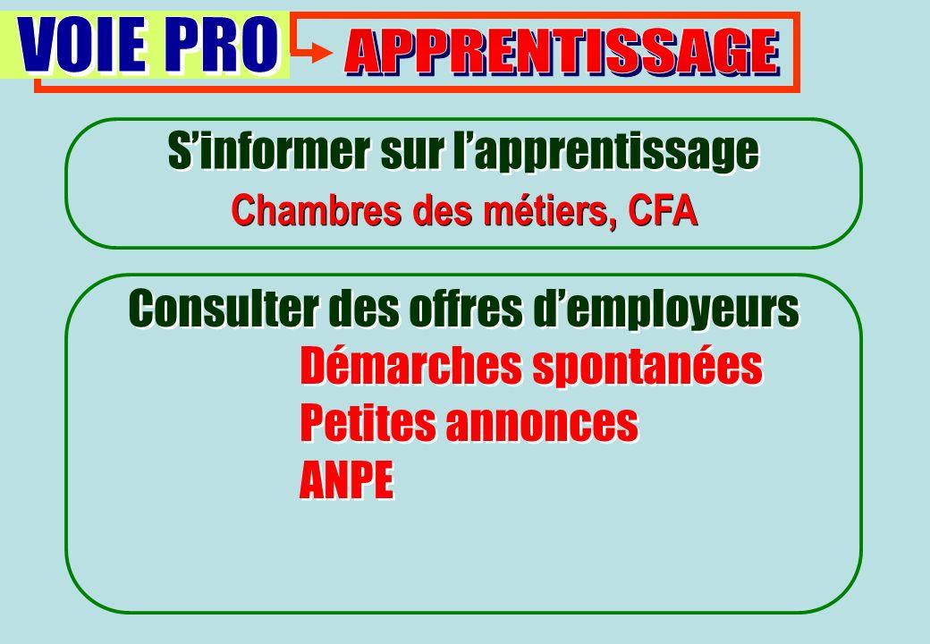 Chambres des métiers, CFA