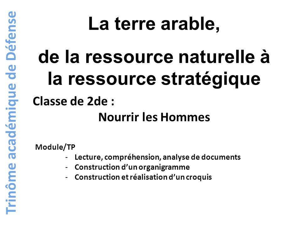La terre arable, de la ressource naturelle à la ressource stratégique