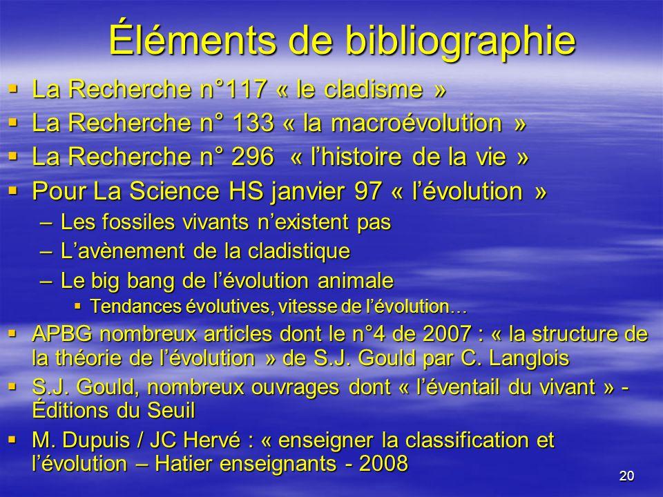 Éléments de bibliographie