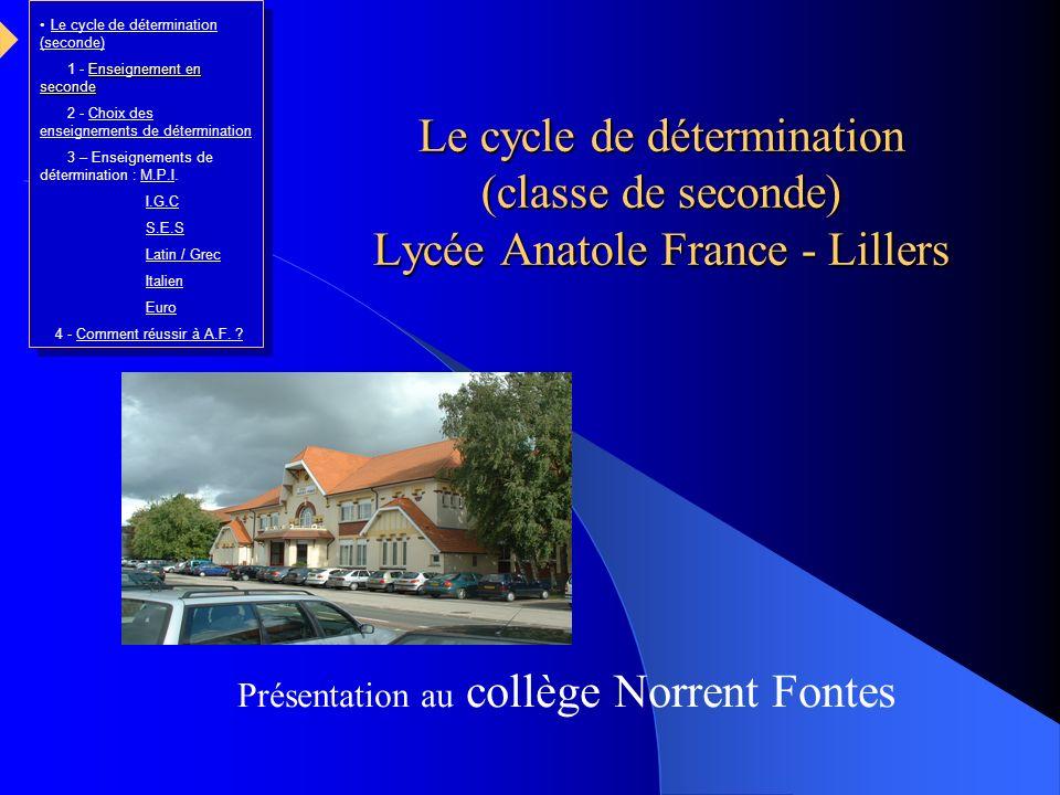 Présentation au collège Norrent Fontes