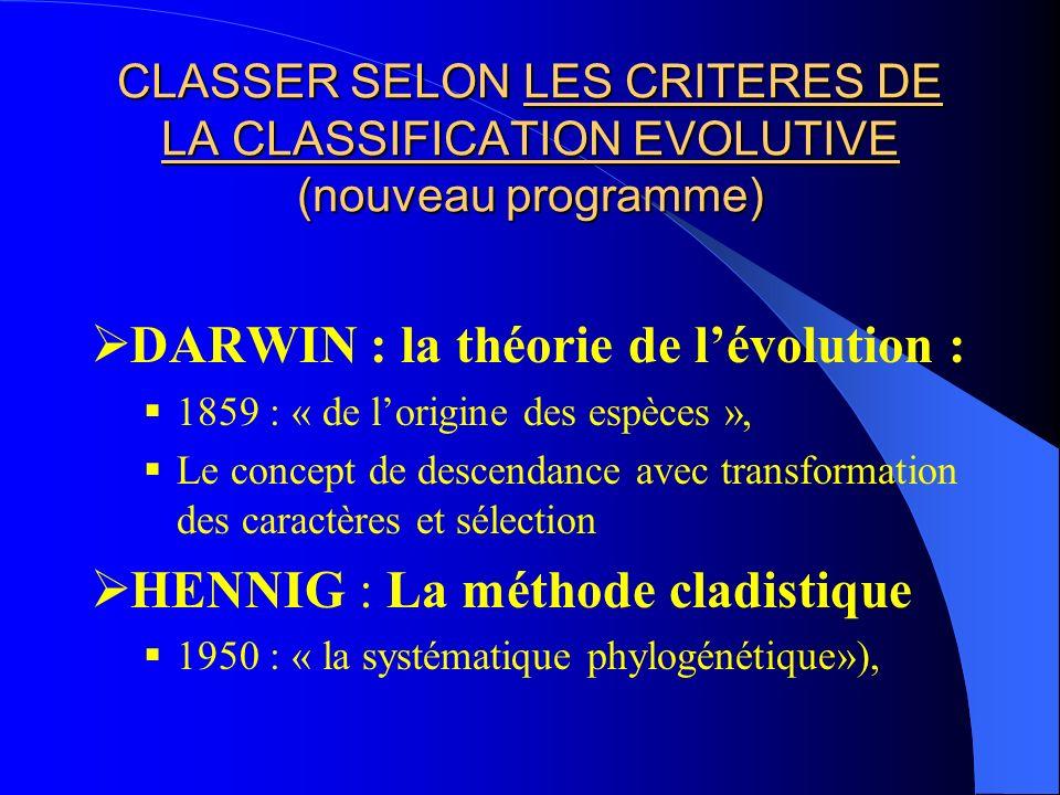 DARWIN : la théorie de l'évolution :