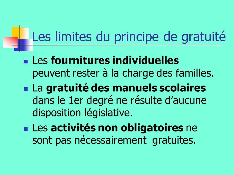 Les limites du principe de gratuité