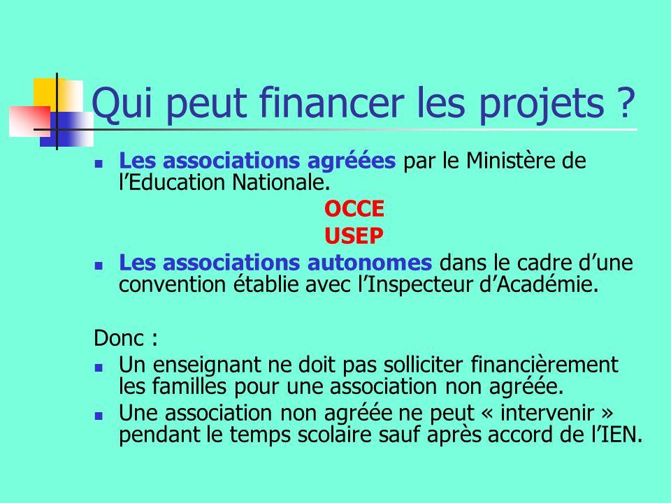 Qui peut financer les projets