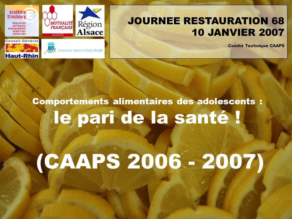 JOURNEE RESTAURATION 68 10 JANVIER 2007