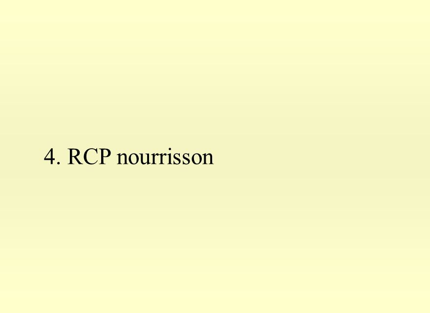 4. RCP nourrisson