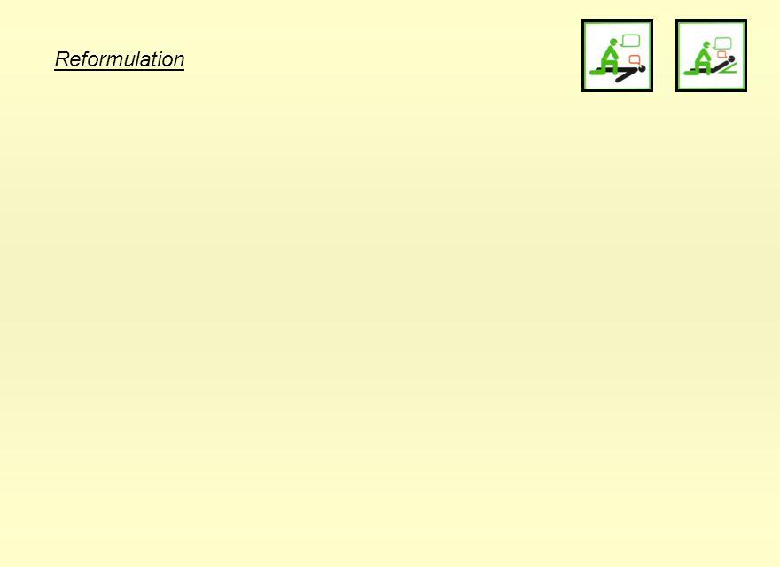 Reformulation 21