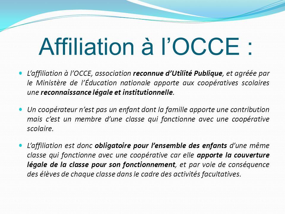 Affiliation à l'OCCE :