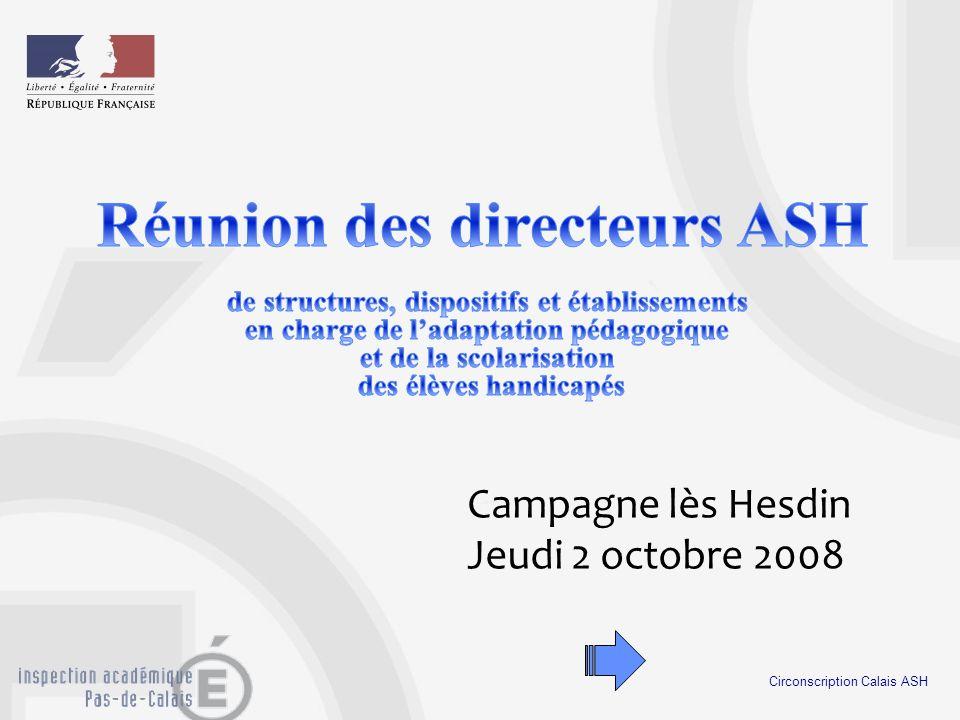 Réunion des directeurs ASH