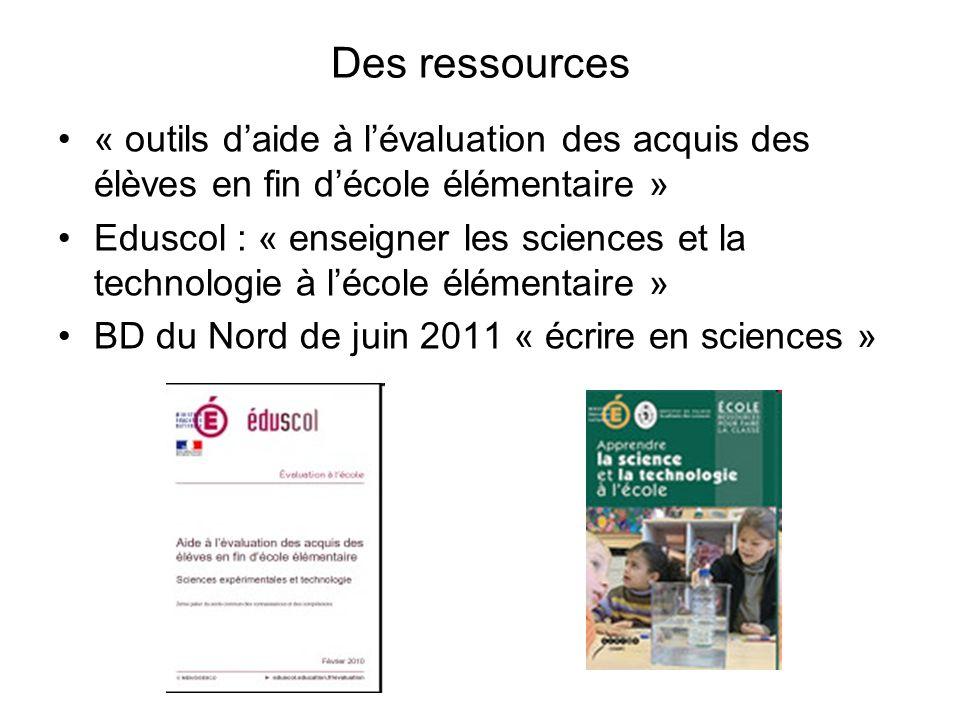 Des ressources « outils d'aide à l'évaluation des acquis des élèves en fin d'école élémentaire »