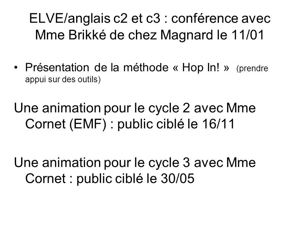 Une animation pour le cycle 3 avec Mme Cornet : public ciblé le 30/05
