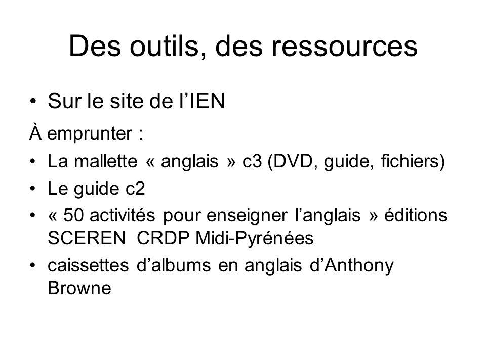 Des outils, des ressources