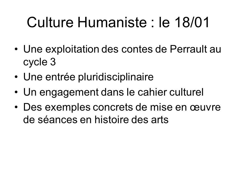 Culture Humaniste : le 18/01